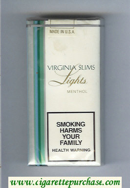 Discount Virginia Slims Lights Menthol 100s cigarettes soft box