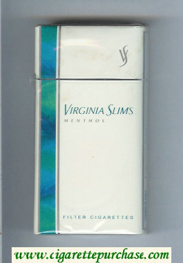 Virginia Slims Menthol 100s Filters cigarettes hard box