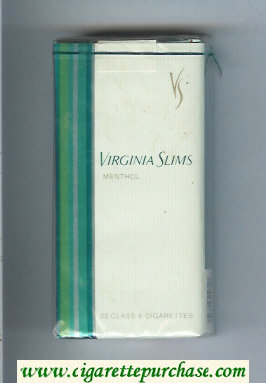 Virginia Slims Menthol 100s cigarettes soft box