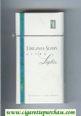 Virginia Slims Ultra Lights Menthol 100s cigarettes hard box