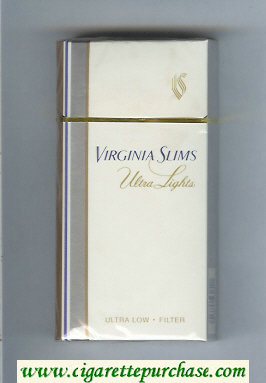 Virginia Slims Ultra Lights 100s Filter cigarettes hard box