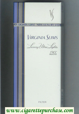Discount Virginia Slims Luxury Ultra Lights 120s Filter cigarettes hard box