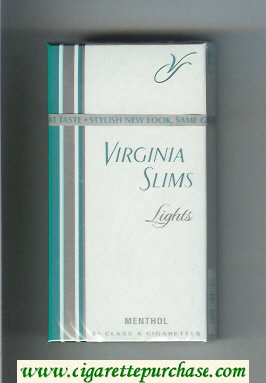 Discount Virginia Slims Lights 100s Menthol cigarettes hard box