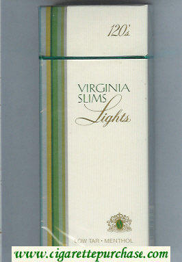 Discount Virginia Slims Lights 120s Menthol cigarettes hard box