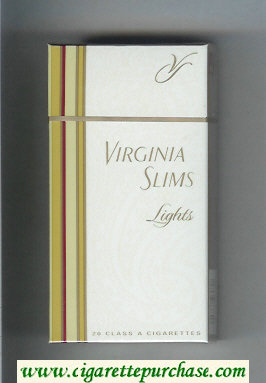 Discount Virginia Slims Lights 100s cigarettes hard box