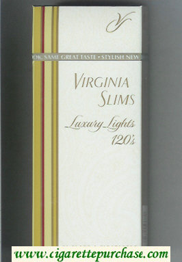 Discount Virginia Slims Luxury Lights 120s cigarettes hard box