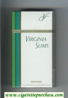 Discount Virginia Slims Menthol 100s cigarettes hard box