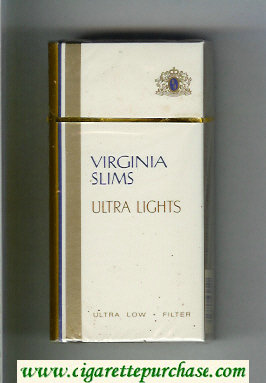 Discount Virginia Slims Ultra Lights 100s Filter cigarettes hard box