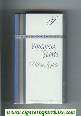Virginia Slims Ultra Lights 100s cigarettes hard box