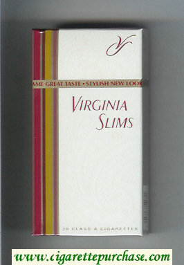 Virginia Slims 100s cigarettes hard box