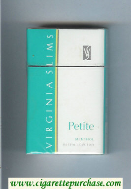 Virginia Slims Petite Menthol cigarettes hard box