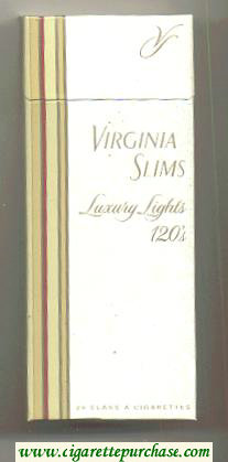Virginia Slims Luxury Lights 120s cigarettes hard box