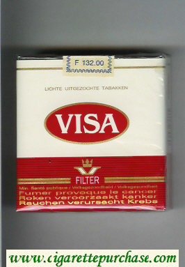 Discount Visa Filter 25 cigarettes white and red soft box