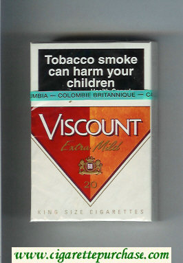 Viscount Extra Mild cigarettes hard box