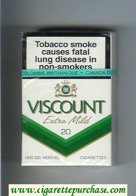 Viscount Extra Mild Menthol cigarettes hard box