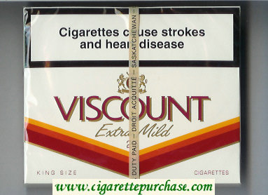 Viscount Extra Mild King Size 25s cigarettes wide flat hard box
