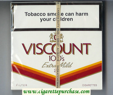 Viscount 100s Extra Mild 25s Filter cigarettes wide flat hard box