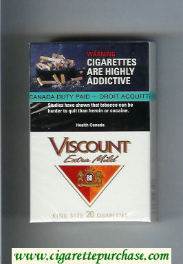 Viscount Extra Mild King Size cigarettes hard box