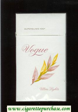 Vogue Superslims 100s Ultra Lights cigarettes hard box