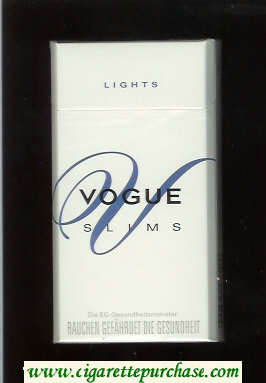 Vogue V Slims Lights 100s cigarettes hard box