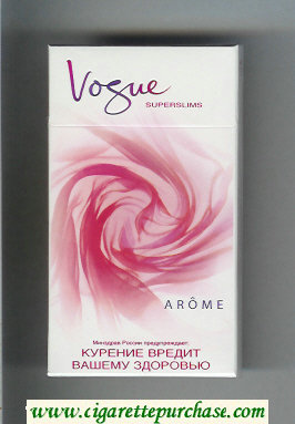 Vogue Superslims Arome 100s cigarettes hard box