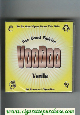 Discount Voodoo Vanilla cigarettes wide flat hard box