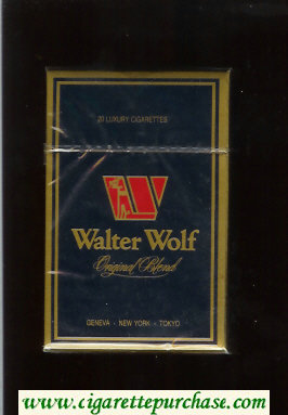 Walter Wolf Original Blend cigarettes dark blue hard box