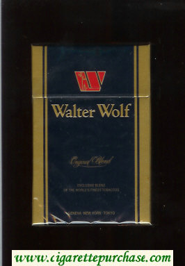 Walter Wolf cigarettes Original Blend dark blue hard box