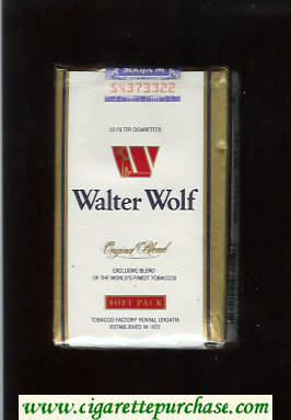 Walter Wolf Original Blend cigarettes white soft box