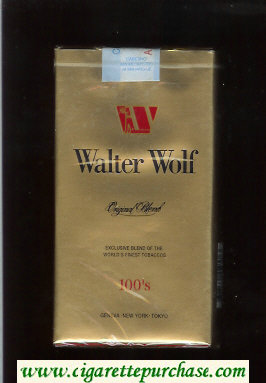 Walter Wolf Original Blend 100s cigarettes gold soft box