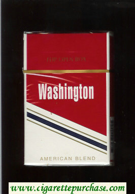 Washington American Blend cigarettes red and white hard box