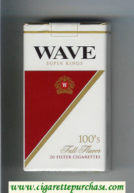 Discount Wave 100s Full Flavor cigarettes soft box