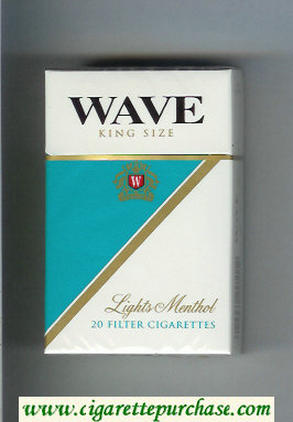 Discount Wave Lights Menthol cigarettes hard box