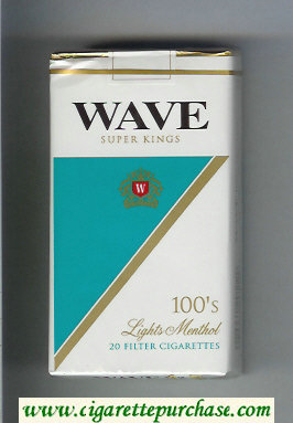 Discount Wave 100s Lights Menthol cigarettes soft box