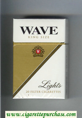 Wave Lights cigarettes hard box