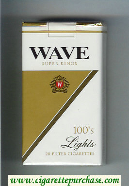 Wave 100s Lights cigarettes soft box