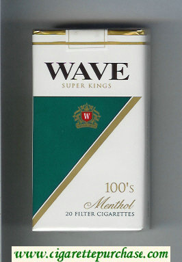 Wave 100s Menthol cigarettes soft box