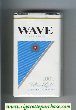 Wave 100s Ultra Lights cigarettes soft box