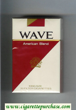 Discount Wave American Blend cigarettes hard box
