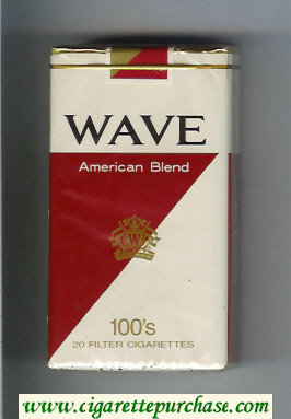 Discount Wave American Blend 100s cigarettes soft box