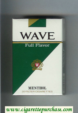Discount Wave Full Flavor Menthol cigarettes hard box