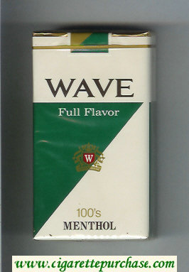 Wave Full Flavor 100s Menthol cigarettes soft box