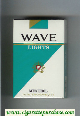 Wave Lights Menthol cigarettes hard box