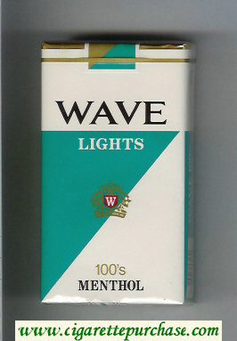 Discount Wave Lights 100s Menthol cigarettes soft box