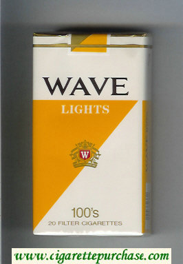 Discount Wave Lights 100s cigarettes soft box