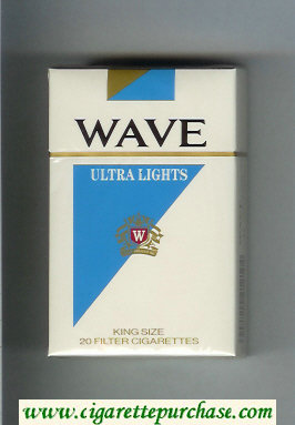 Discount Wave Ultra Lights cigarettes hard box