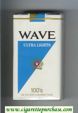 Discount Wave Ultra Lights 100s cigarettes soft box