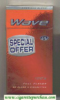 Discount Wave Special Offer 100s Full Flavor cigarettes hard box