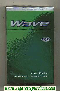 Wave Menthol cigarettes hard box