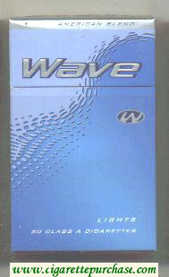 Discount Wave Lights cigarettes hard box